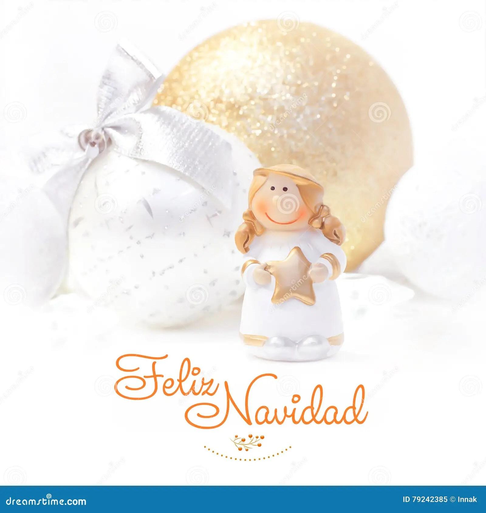 Feliz Navidad Christmas And New Year Background