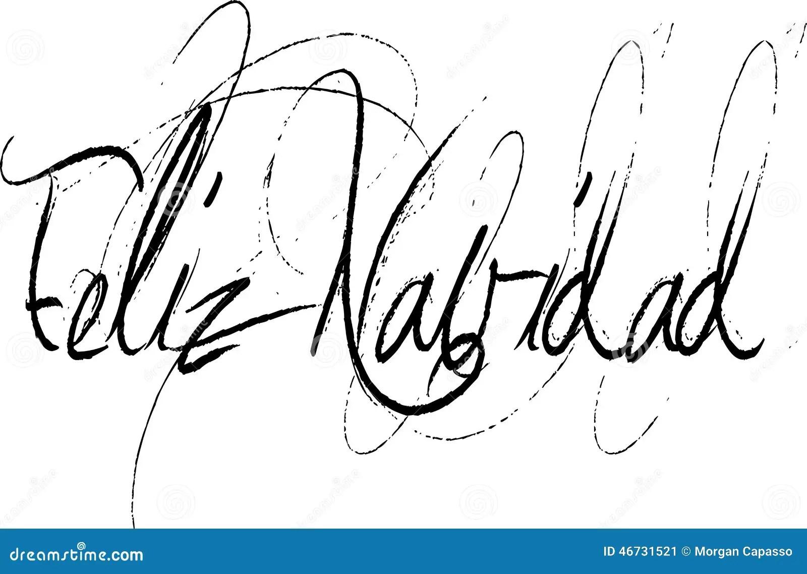 Feliz Navidad In Handwritten Script Stock Vector