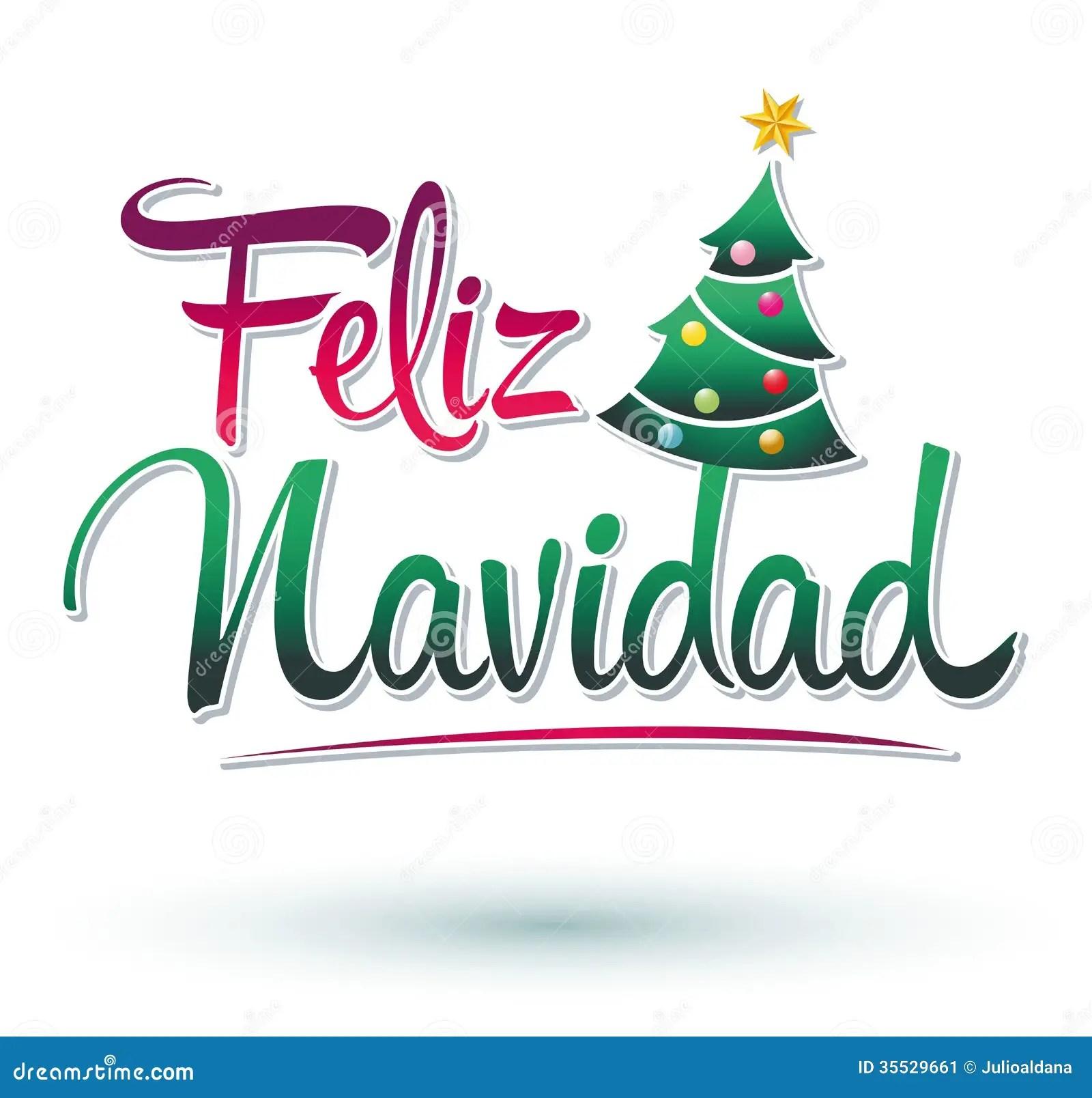 Feliz Navidad Stock Image Image Of Idea Calligraphic