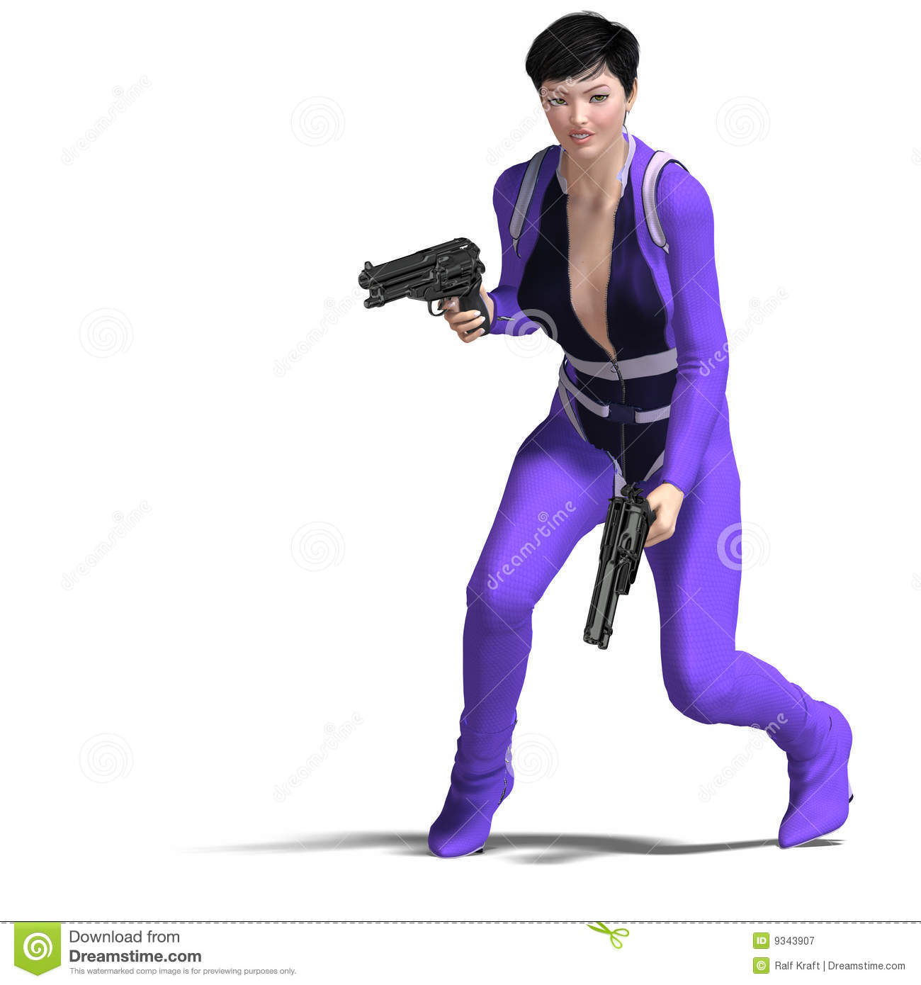 Female Agent Blue Royalty Free Stock Photography