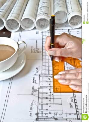 Female Architect At Work Stock Photography  Image: 22264922