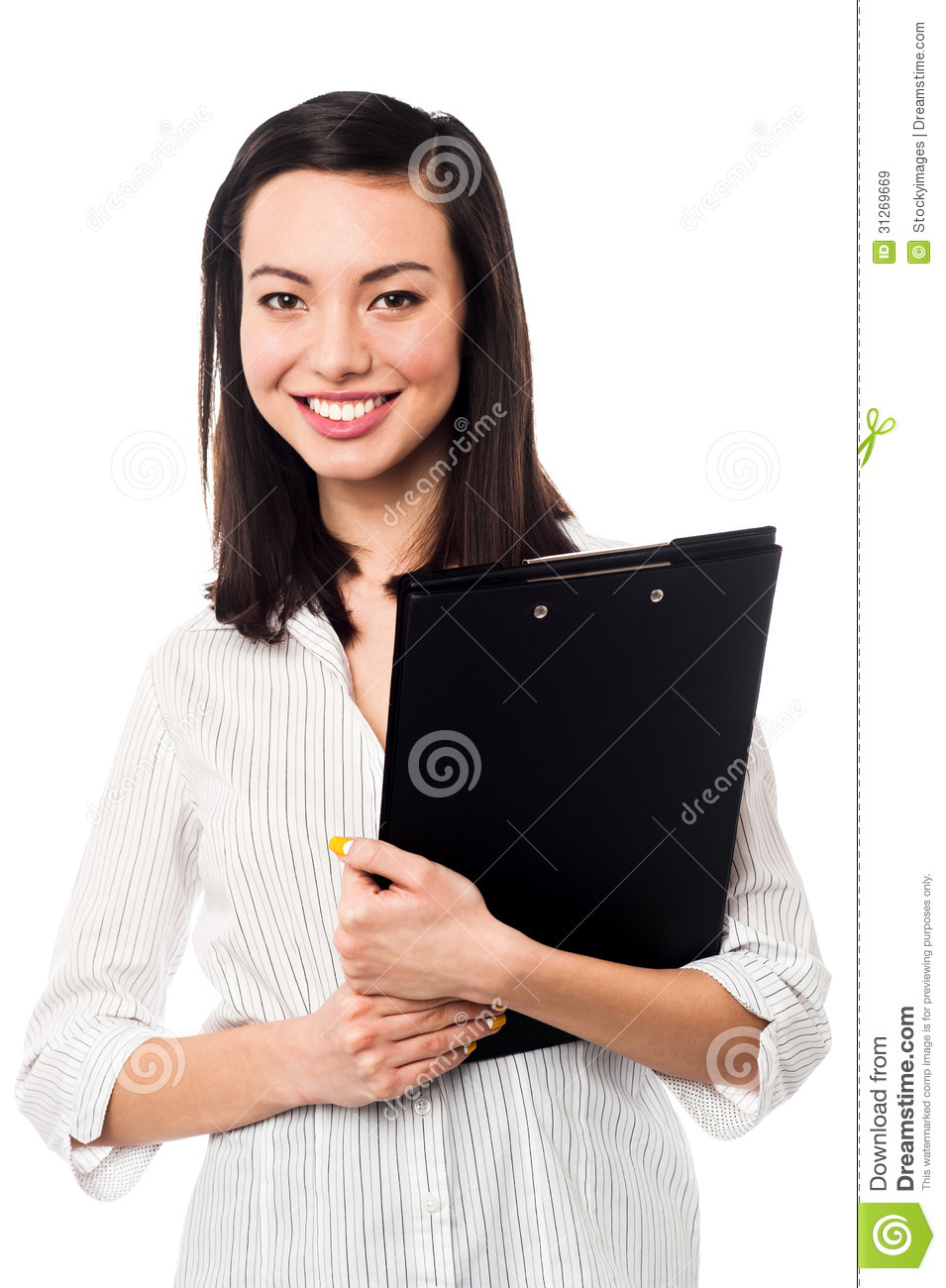 Female Assistant Holding Business Files Stock Image  Image 31269669