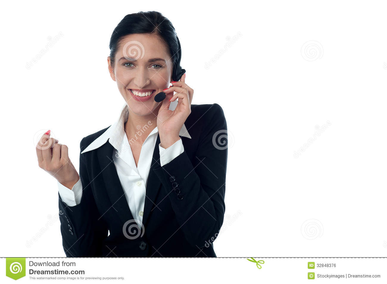 Female Customer Support Executive On Call Royalty Free Stock Image  Image 32848376