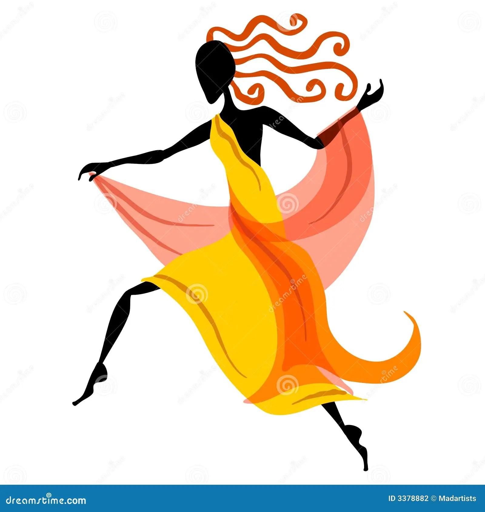 Female Dancer Figure 1 Stock Vector Illustration Of
