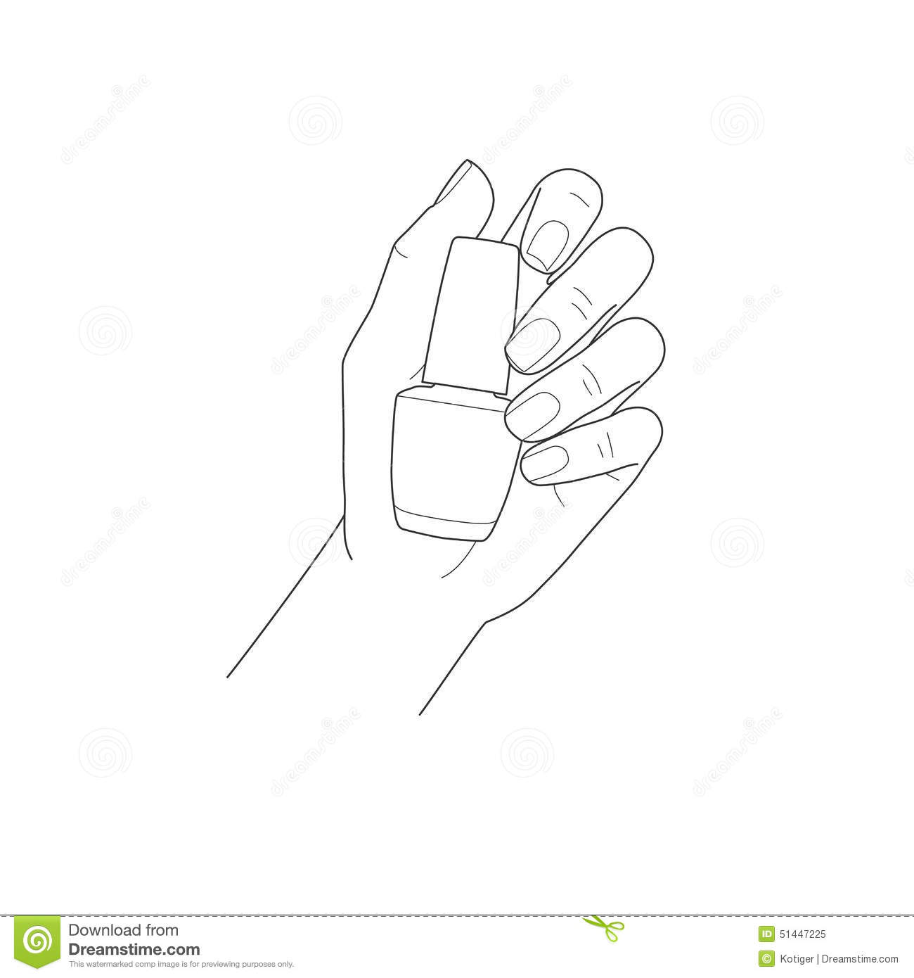 Female Hand With Manicure Holding Nail Polish Stock Vector