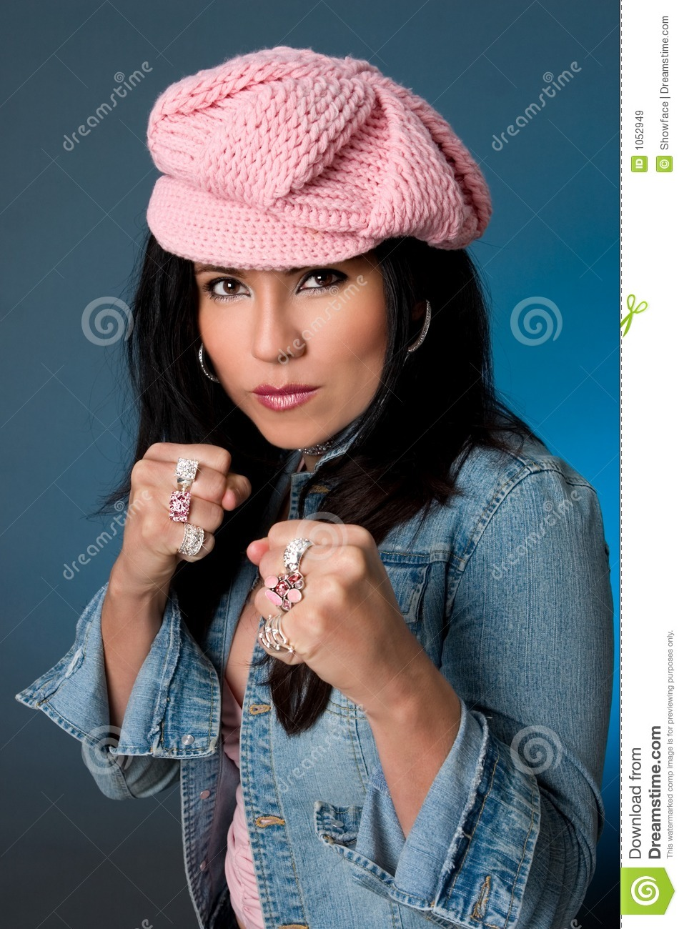 Female Knuckle Dusters Royalty Free Stock Images Image
