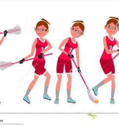 female lacrosse player vector profesional sport holding lacrosse stick girl s lacrosse player [ 1300 x 821 Pixel ]