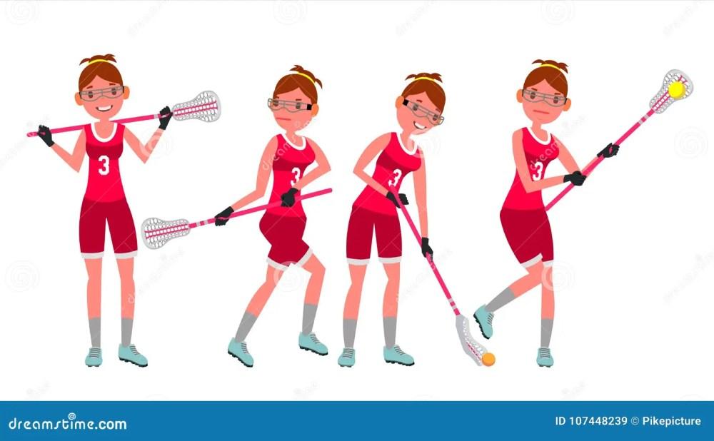 medium resolution of female lacrosse player vector profesional sport holding lacrosse stick girl s lacrosse player