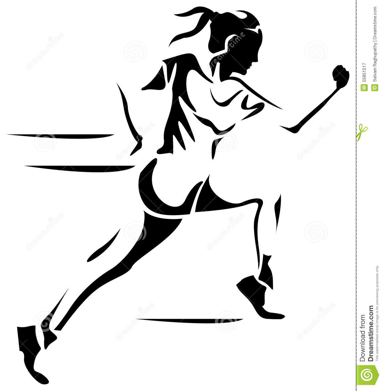 Female Run Stock Vector Illustration Of Fitness Female