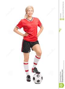 Female Soccer Player Posing