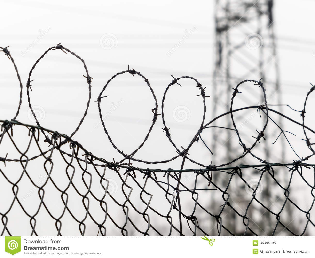 Fence With Barbed Wire Stock Image Image Of Detention