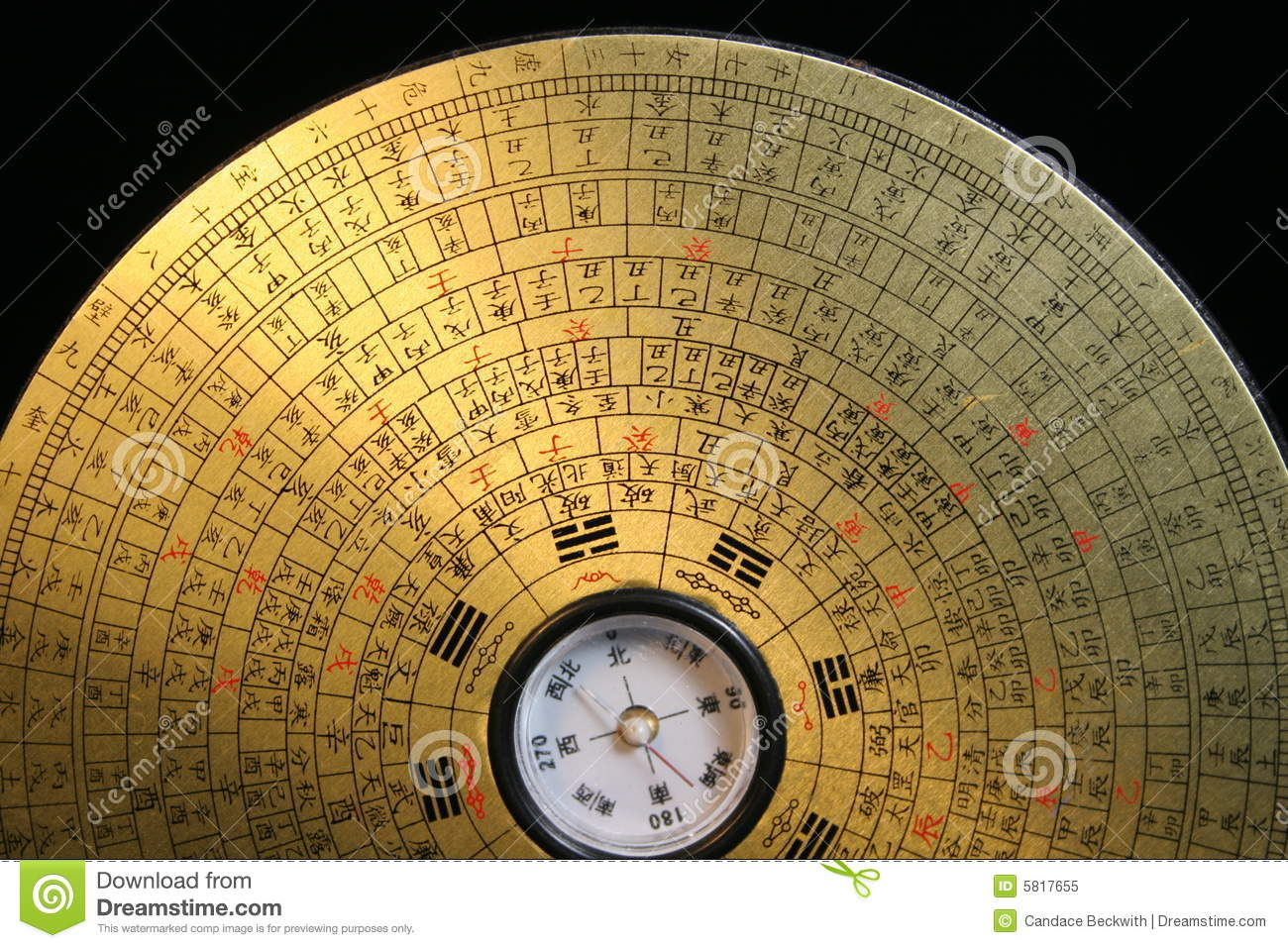 Feng Shui Compass stock image Image of fire direction  5817655