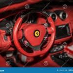 Ferrari F12 Berlinetta V12 Gt Sports Car Red Interior View Editorial Stock Photo Image Of Inside Indoors 195109748