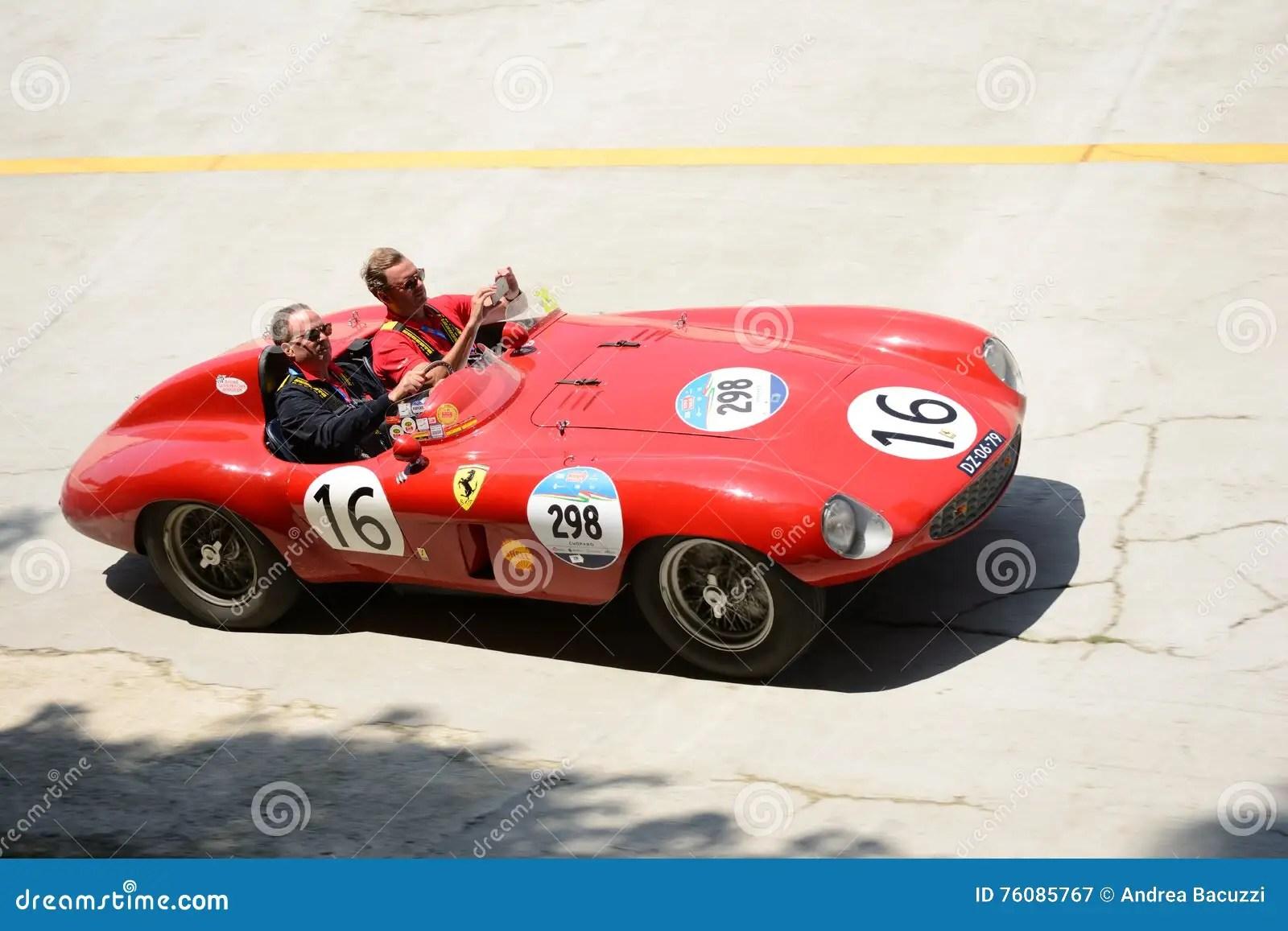 hight resolution of 1954 ferrari 750 monza spider scaglietti at the mille miglia