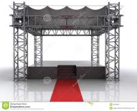 Festival Open Air Stage With Red Carpet For Celebrities ...