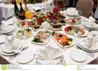 Festive Table Setting For Banquet Stock Image ...