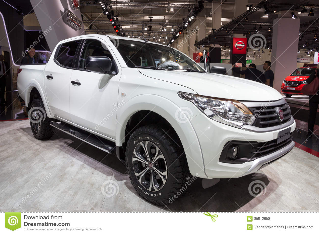hight resolution of hannover germany sep 21 2016 new 2017 fiat professional fullback extended cab pick up truck at the international motor show for commercial vehicles