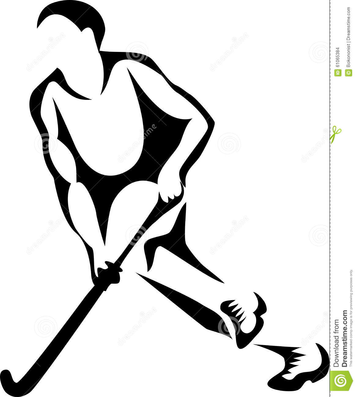 Field Hockey Stock Vector Illustration Of Illustration
