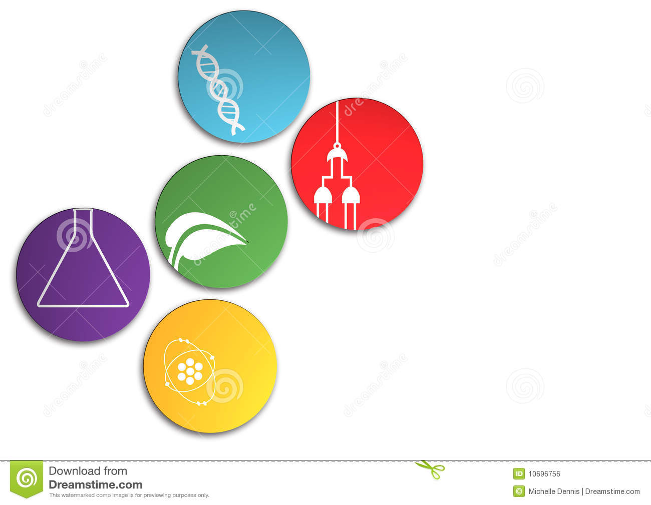Fields Of Science Royalty Free Stock Image