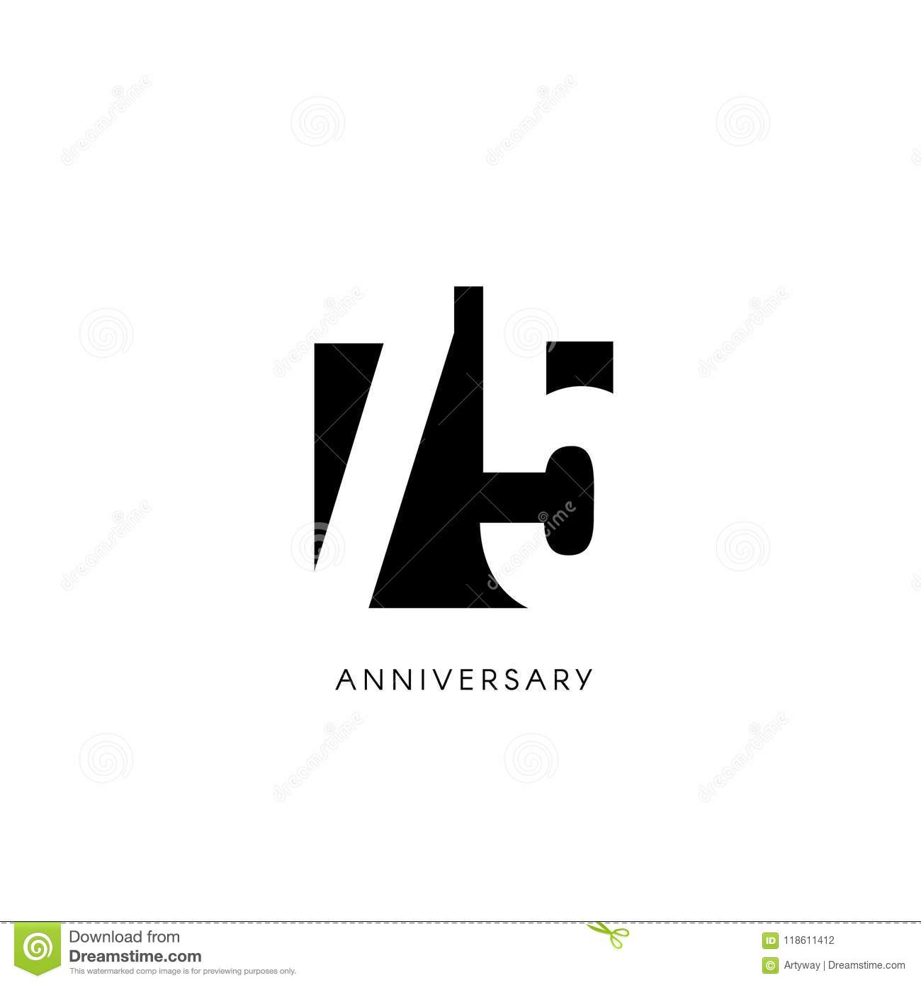 https www dreamstime com fifth anniversary minimalistic logo fifty years th jubilee greeting card birthday invitation year sign black negative space vector image118611412