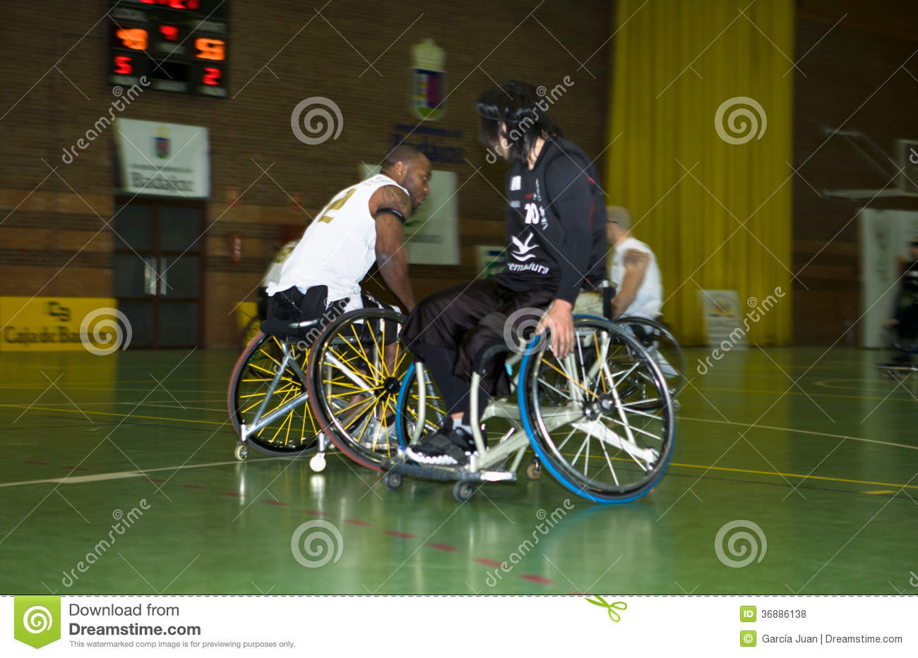 wheelchair fight wedding chair covers burton on trent the ball editorial stock photo image of concept 36886138 badajoz spain january 23 unidentified people play a friendly game basketball 2011 in