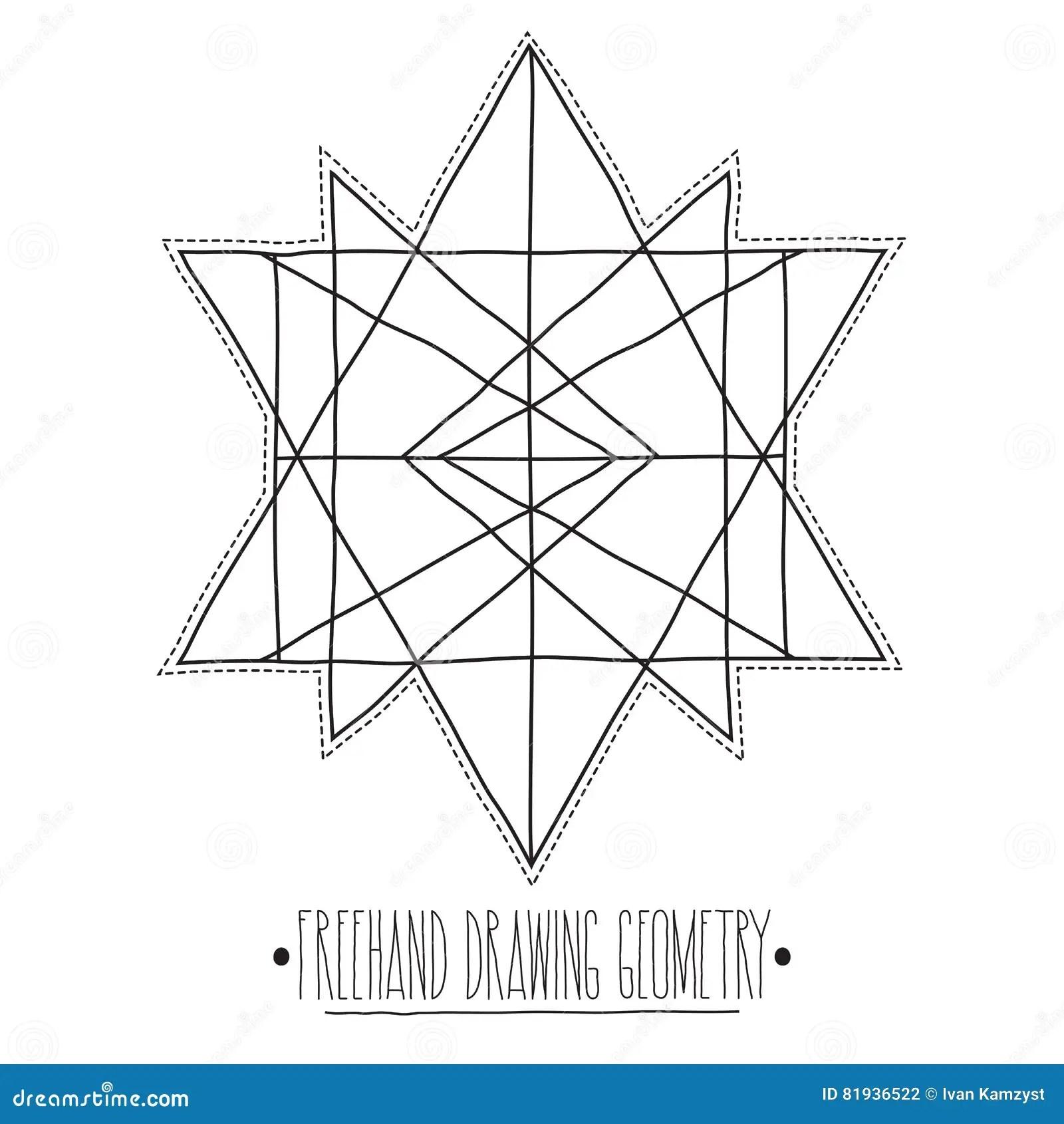 Figure Geometriche Ed Elementi Del Centro Vuoto Con Le