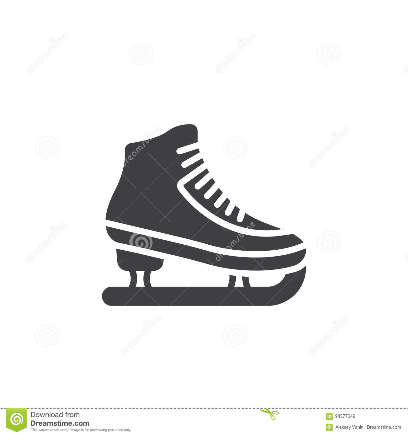 Ice Skating Symbol Stock Photography
