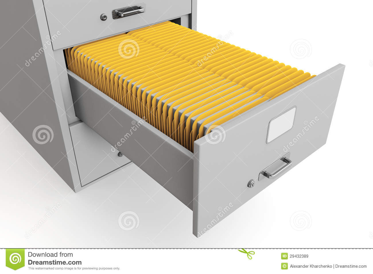 File Cabinet With Folders Royalty Free Stock Images