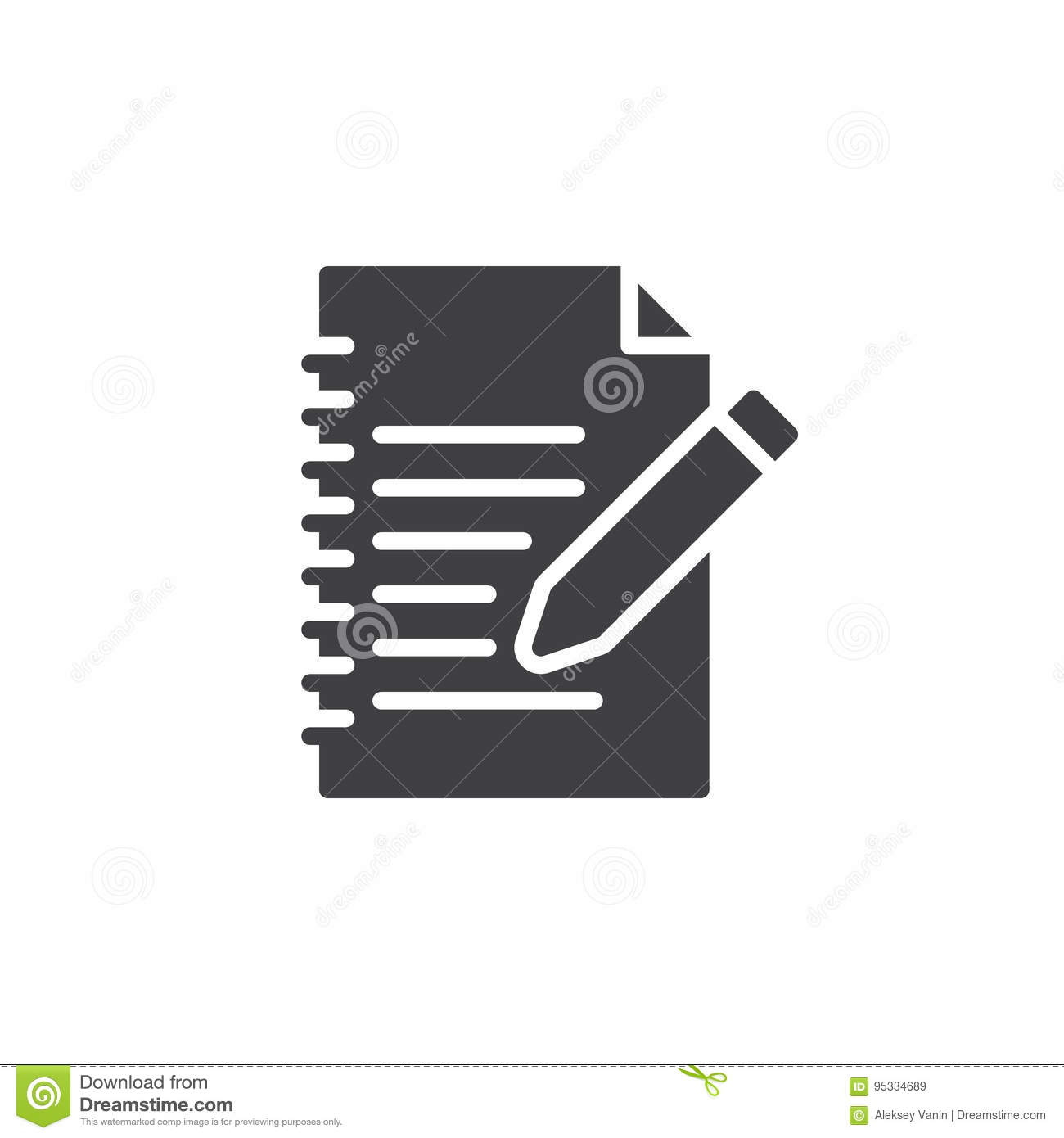 Fill In Form Icon Vector Filled Flat Sign Solid