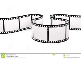 Film strip stock photo. Image of white, curved, blank ...
