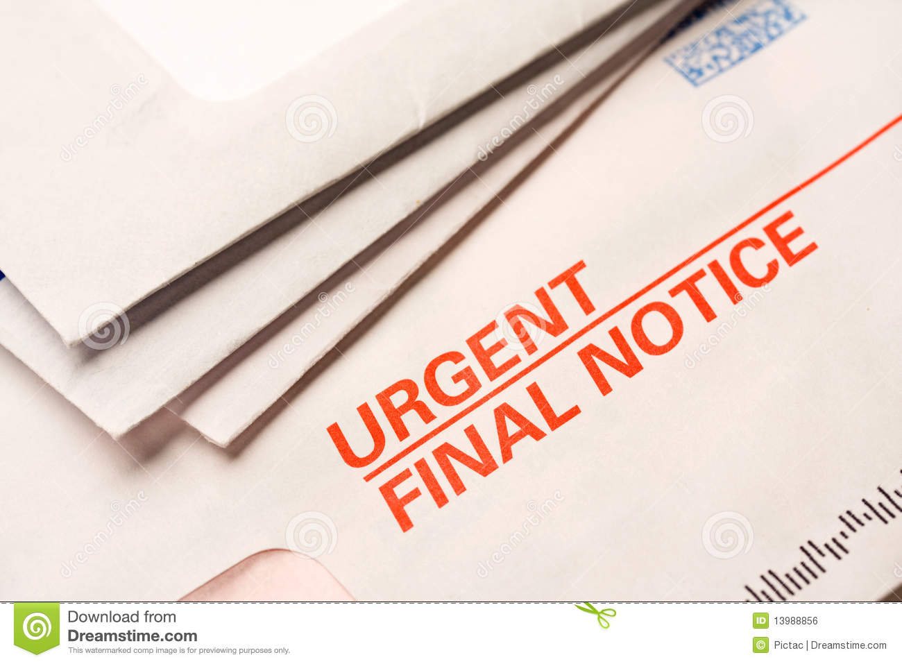 Final notice stock photo. Image of letter, foreclosure - 13988856