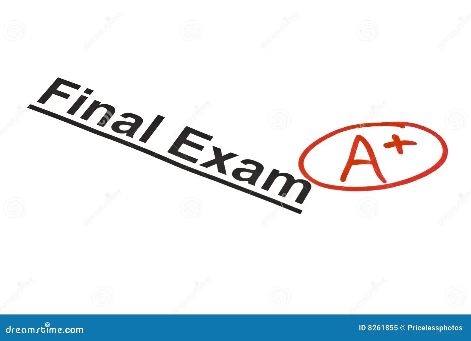 Finale d'examen marquée image stock. Image du secondaire