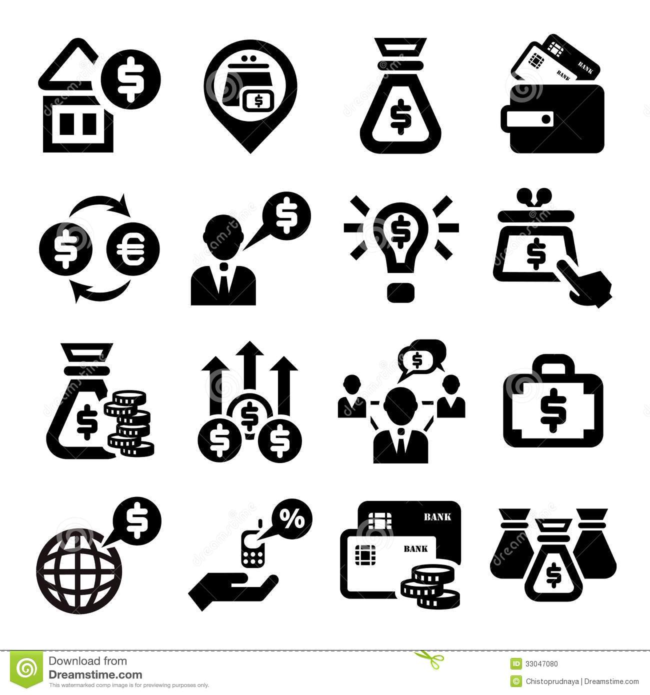 Finance And Money Icons Set Stock Vector