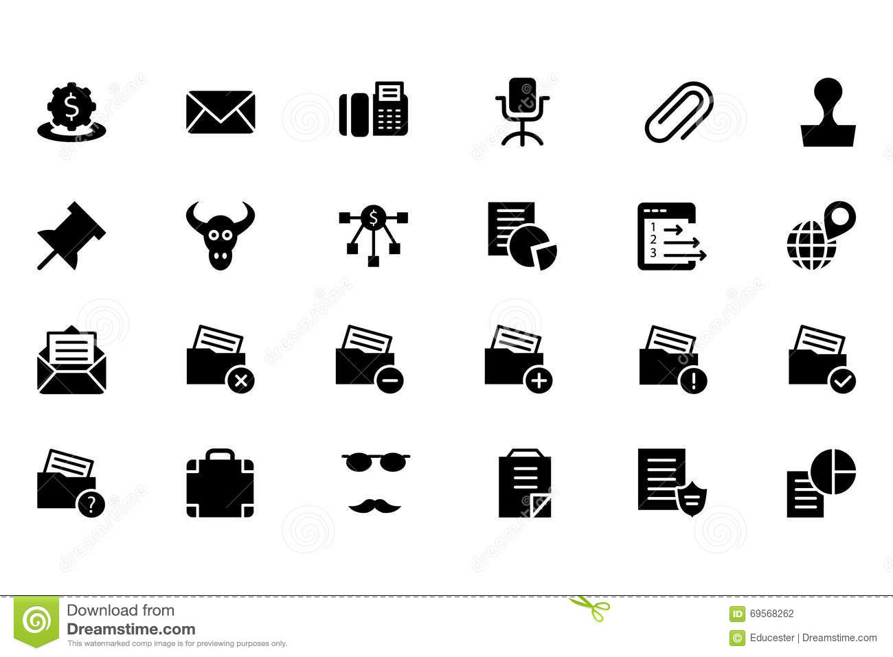 Finance Vector Solid Icons 8 Stock Photo