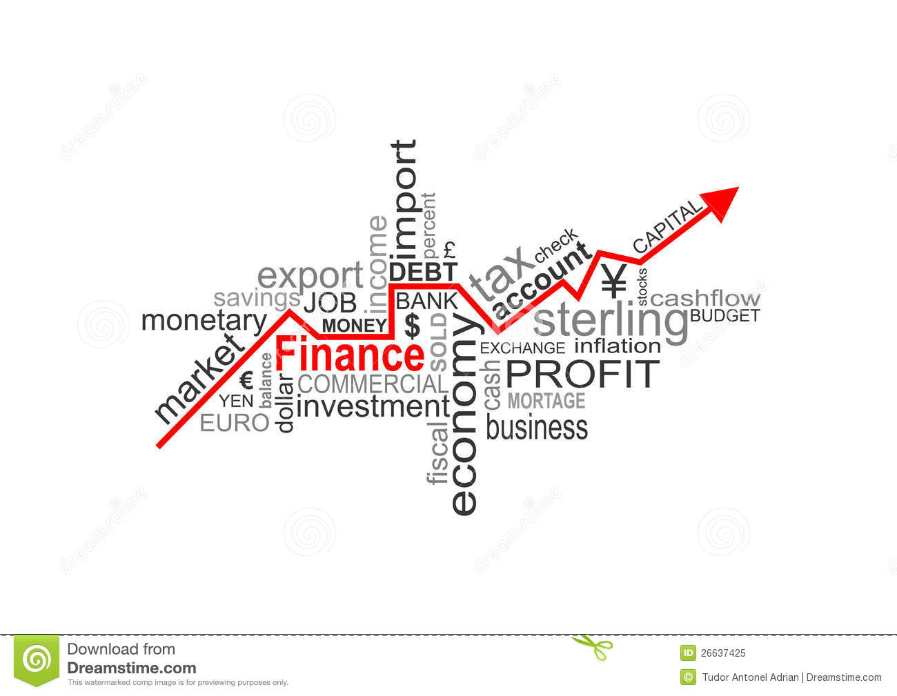 Finance words stock illustration. Illustration of business