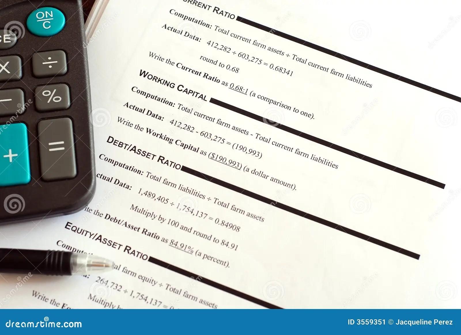 Financial Worksheet Stock Image Image Of Calculator