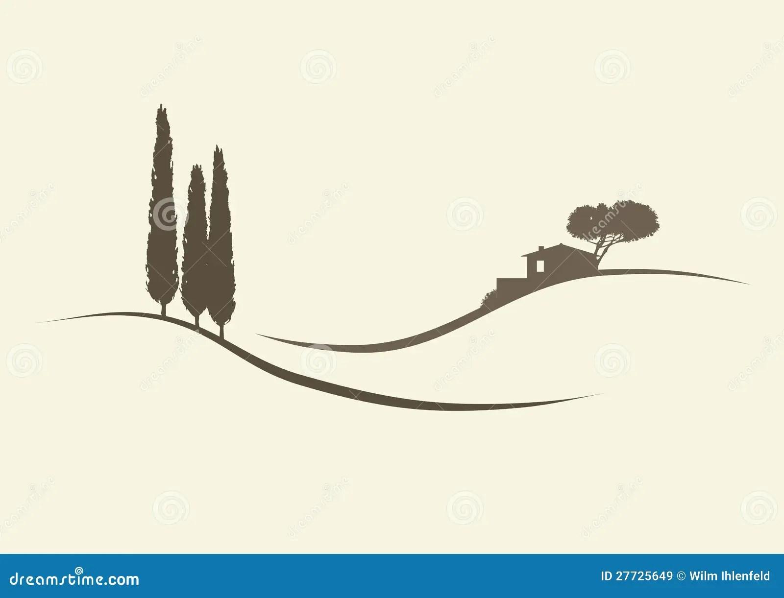 Paesaggi Toscani Stilizzati