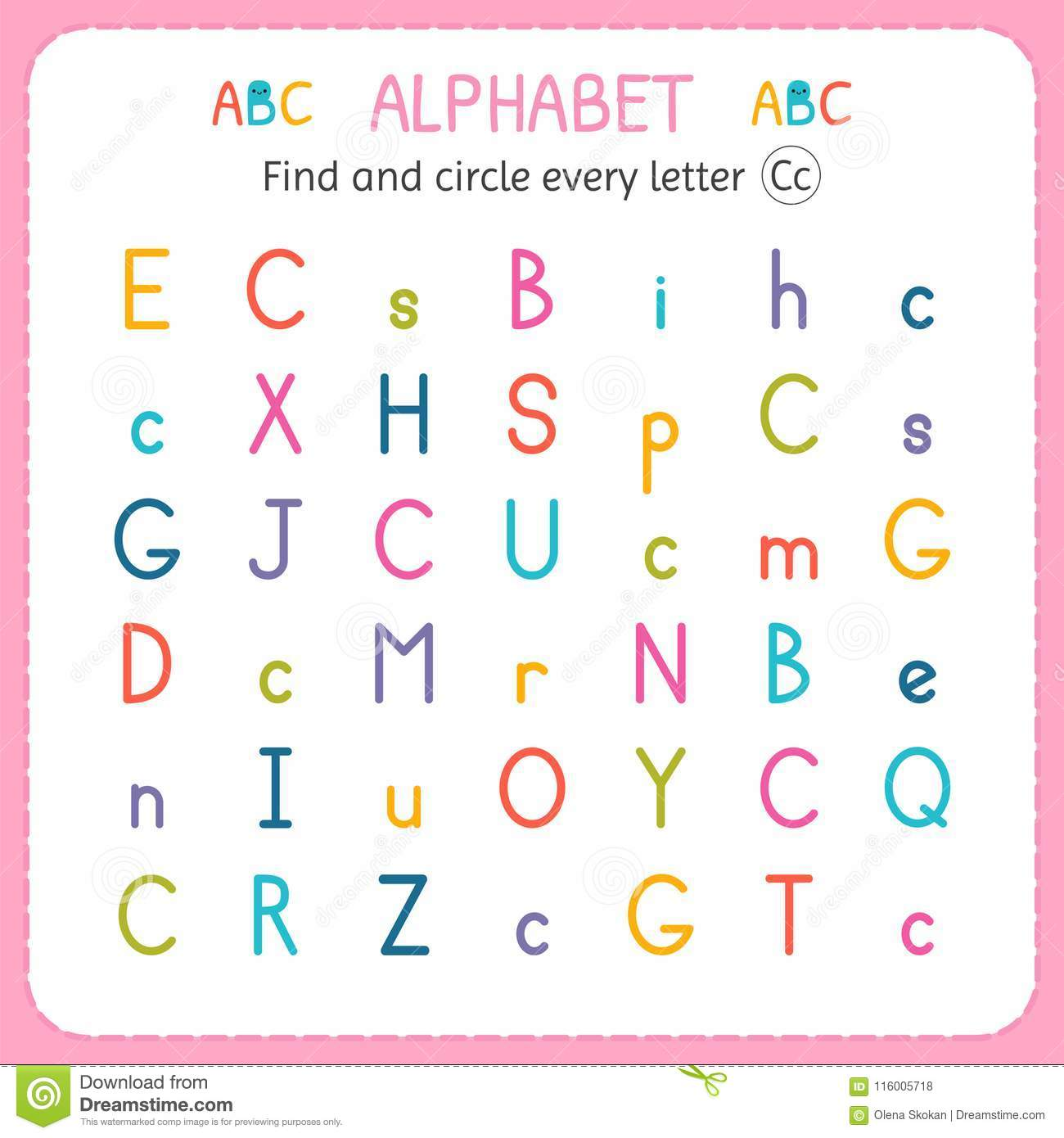 Circle Word Worksheet