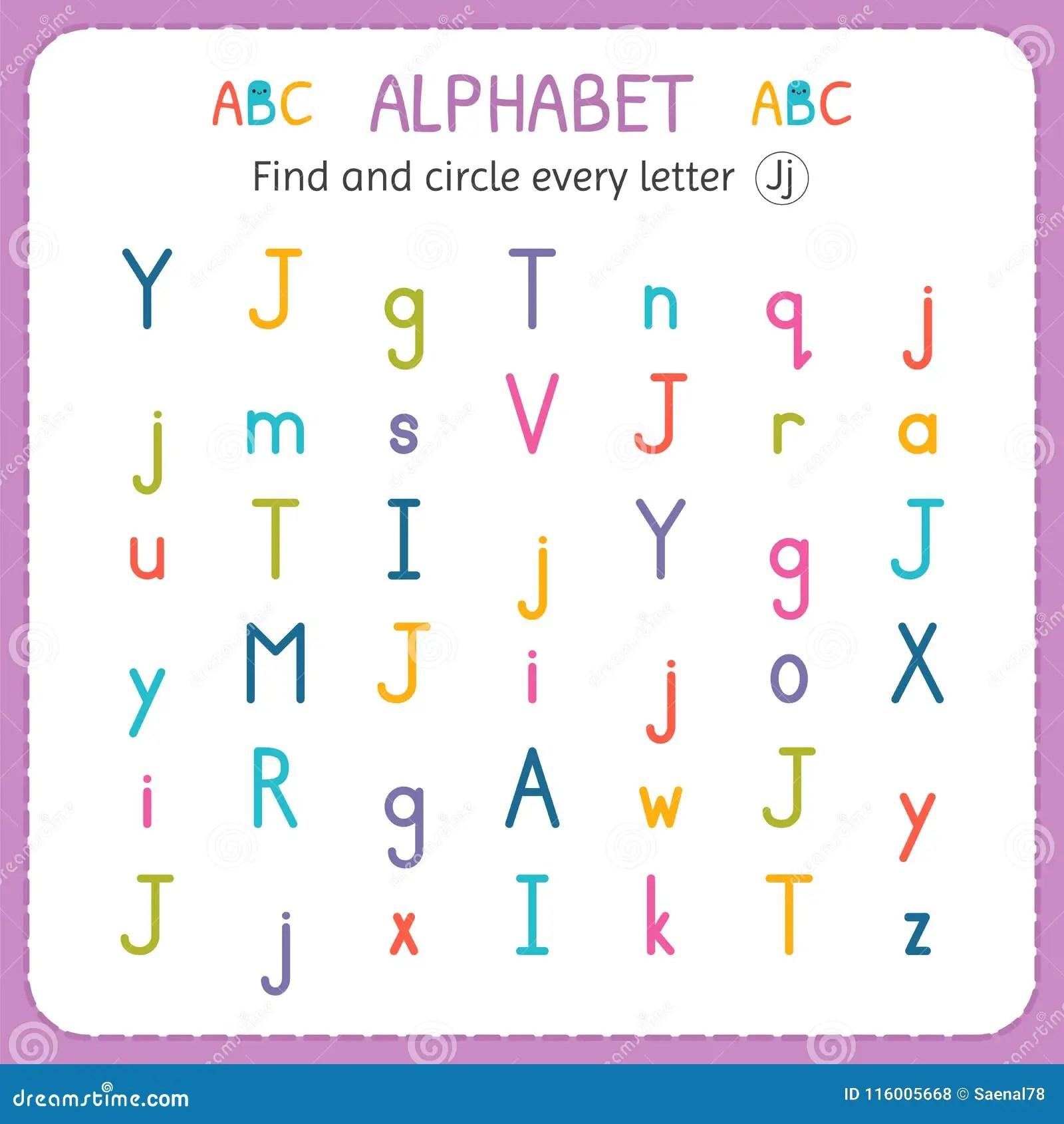 Find And Circle Every Letter J Worksheet For Kindergarten