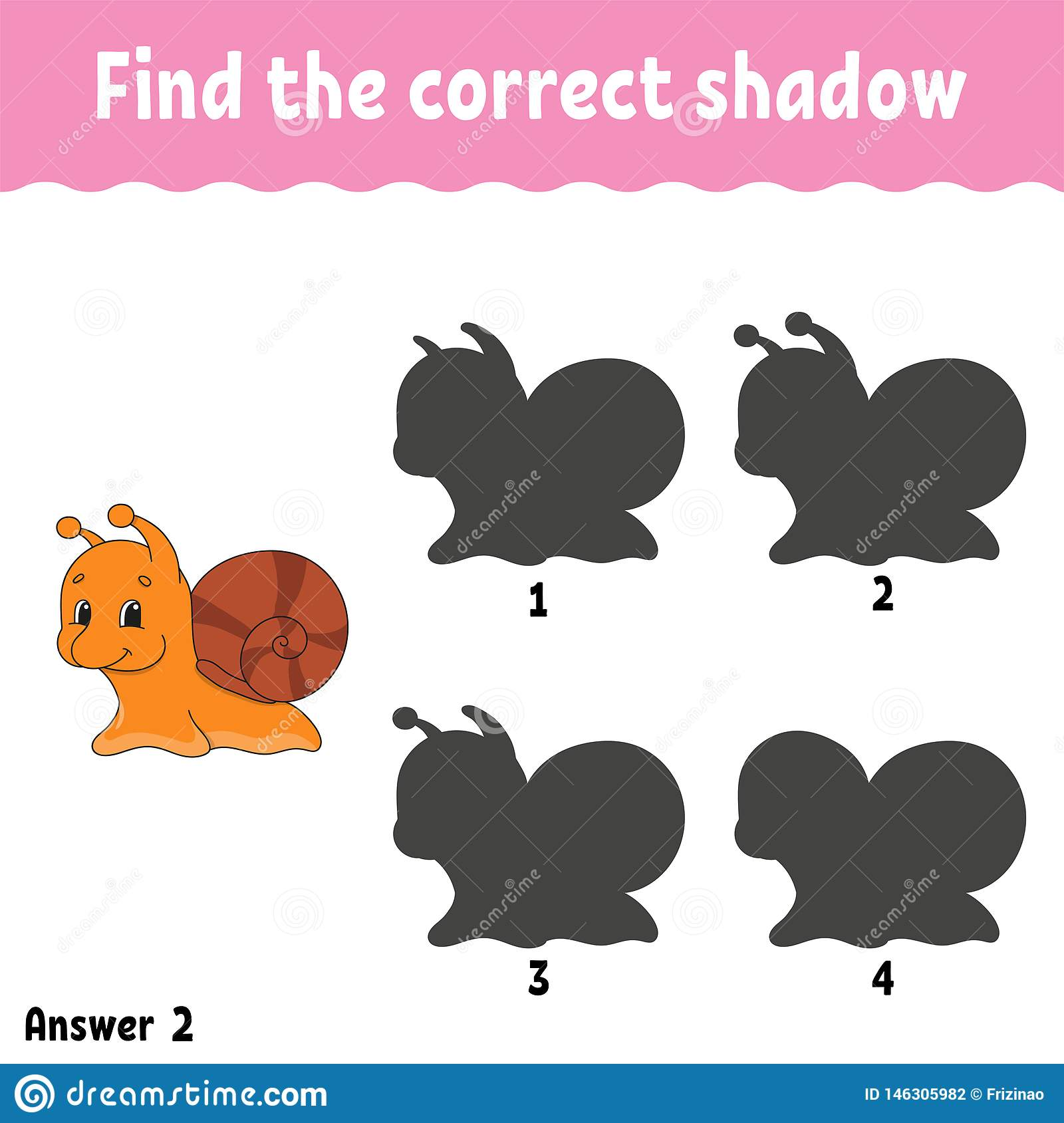 Find The Correct Shadow Draw A Line Education Developing