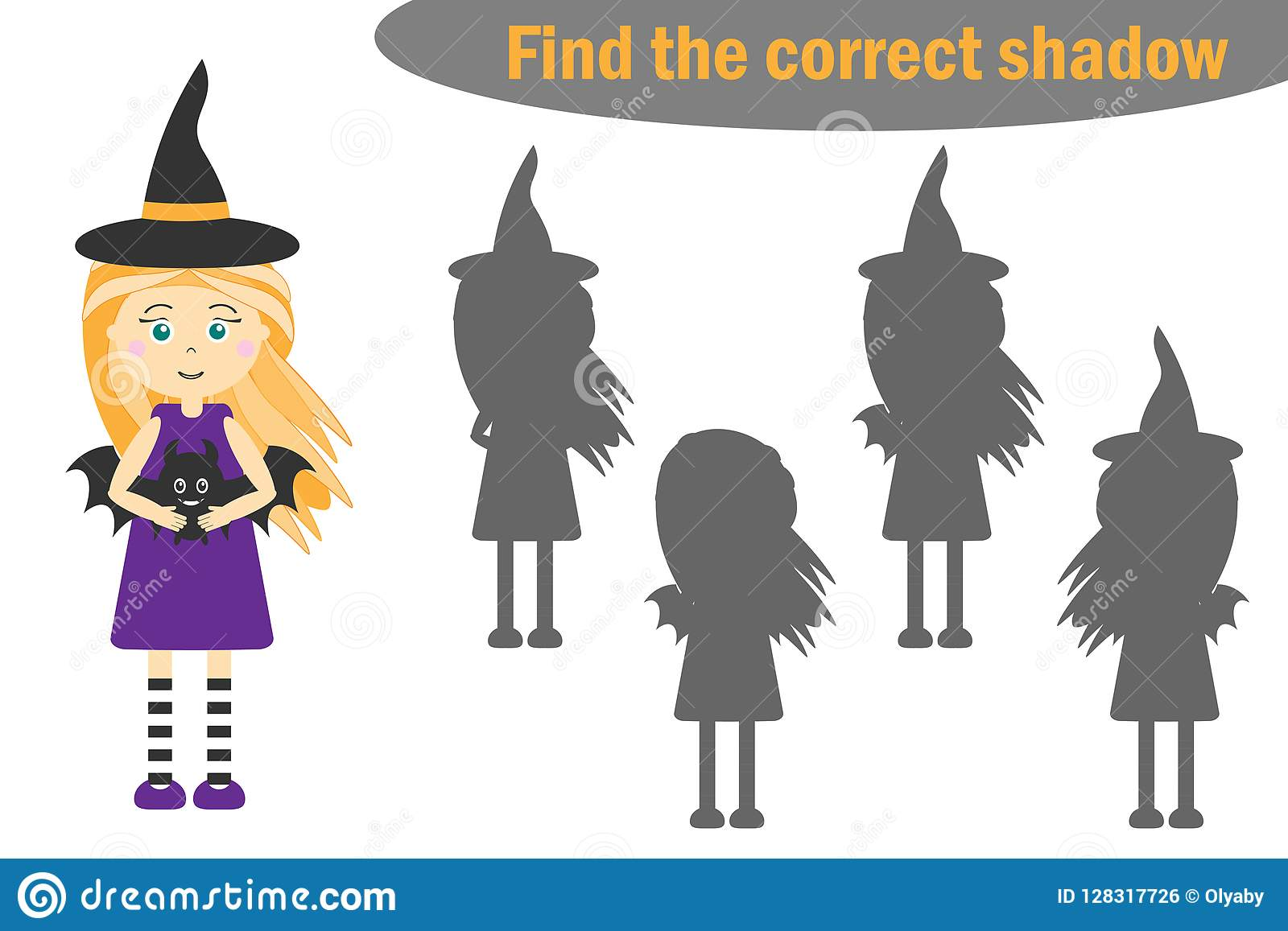 Find The Correct Shadow Halloween Game For Children