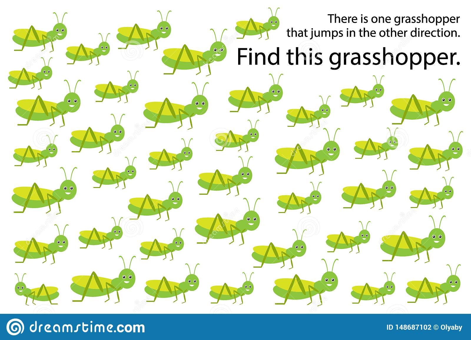 Find Gresshopper Jump In Other Direction Springs