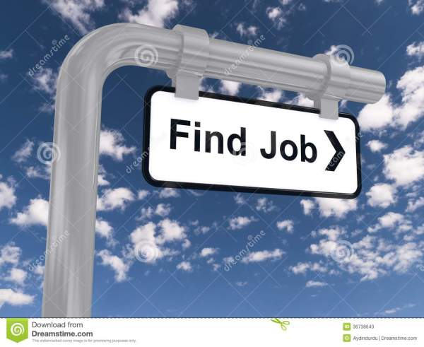 Find Job Sign Stock - 36738640