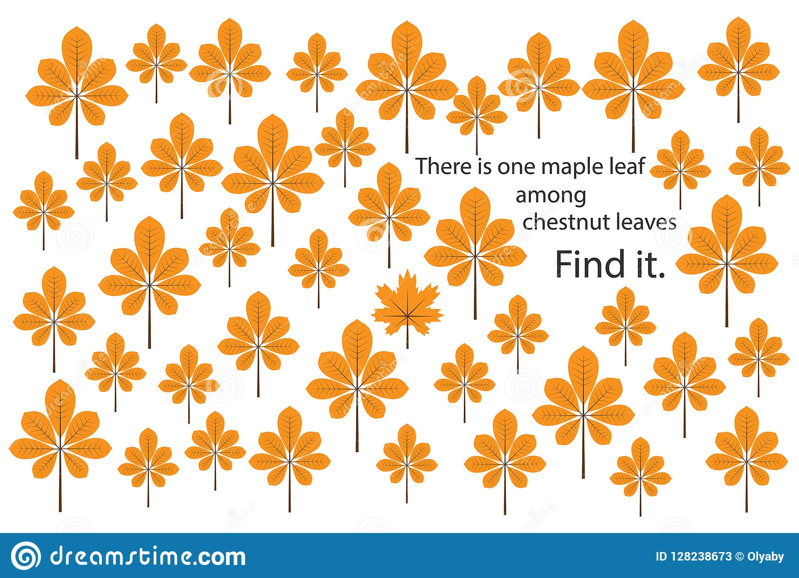 Find Maple Leaf Among Chestnut Leaves Fun Education