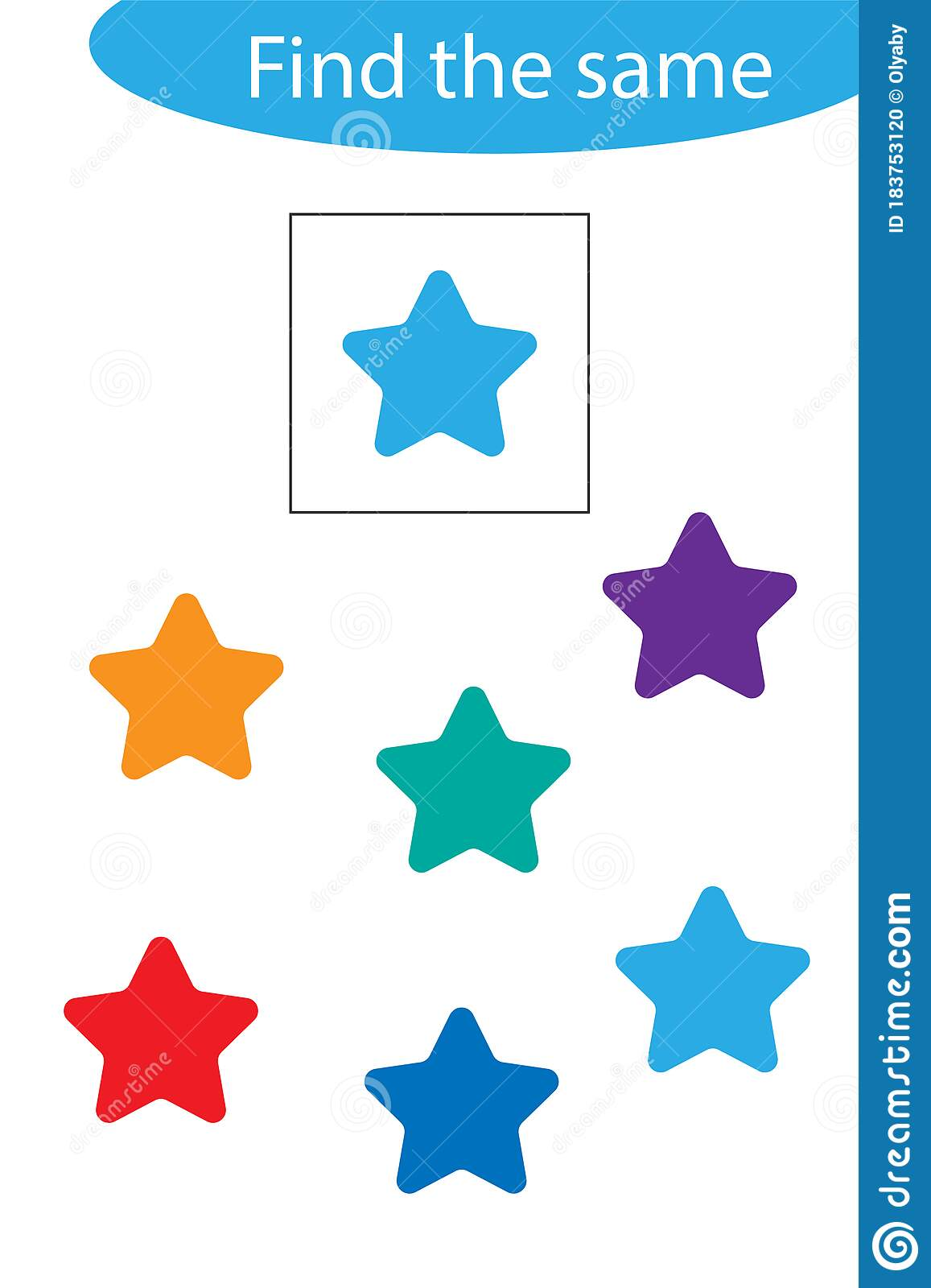 Find The Same Star Fun Education Game For Children