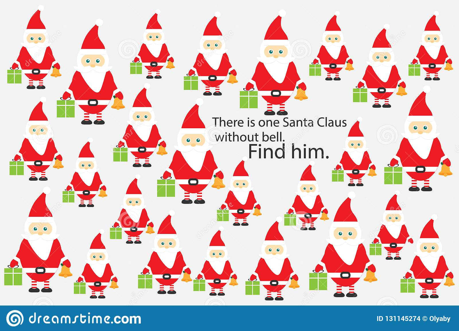 Find Santa Claus Without Bell Christmas Fun Education