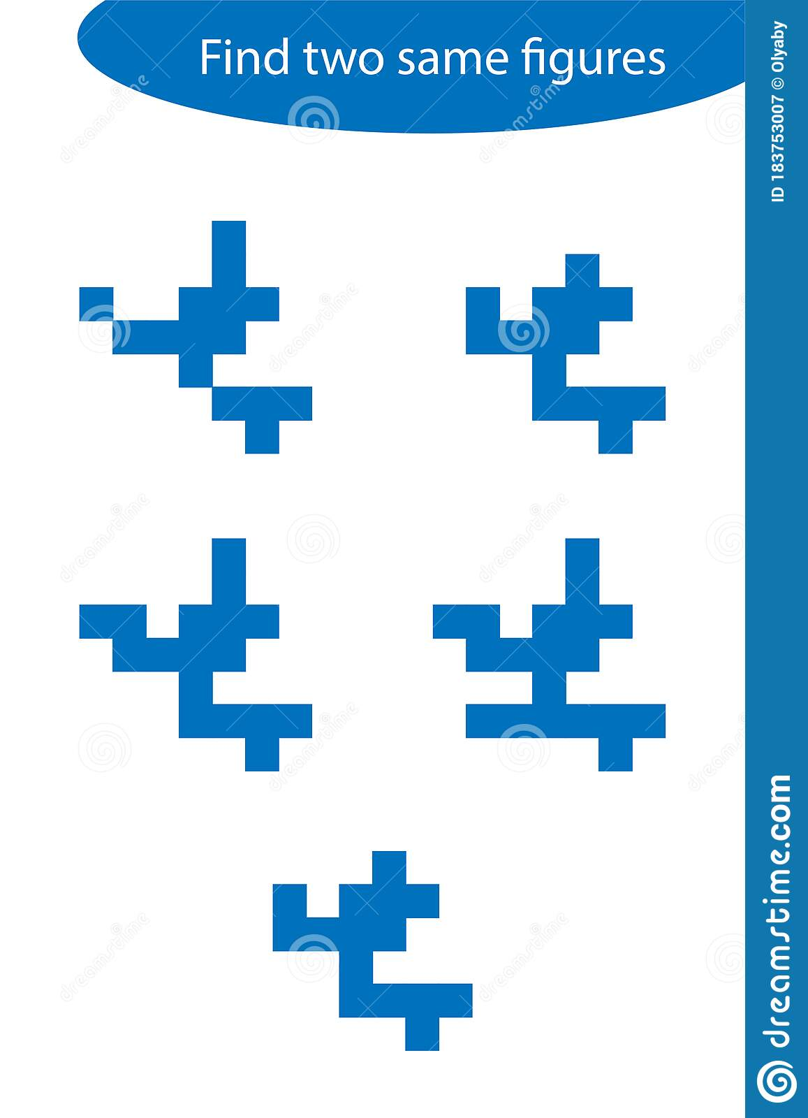 Find Two Identical Figures Fun Education Game For