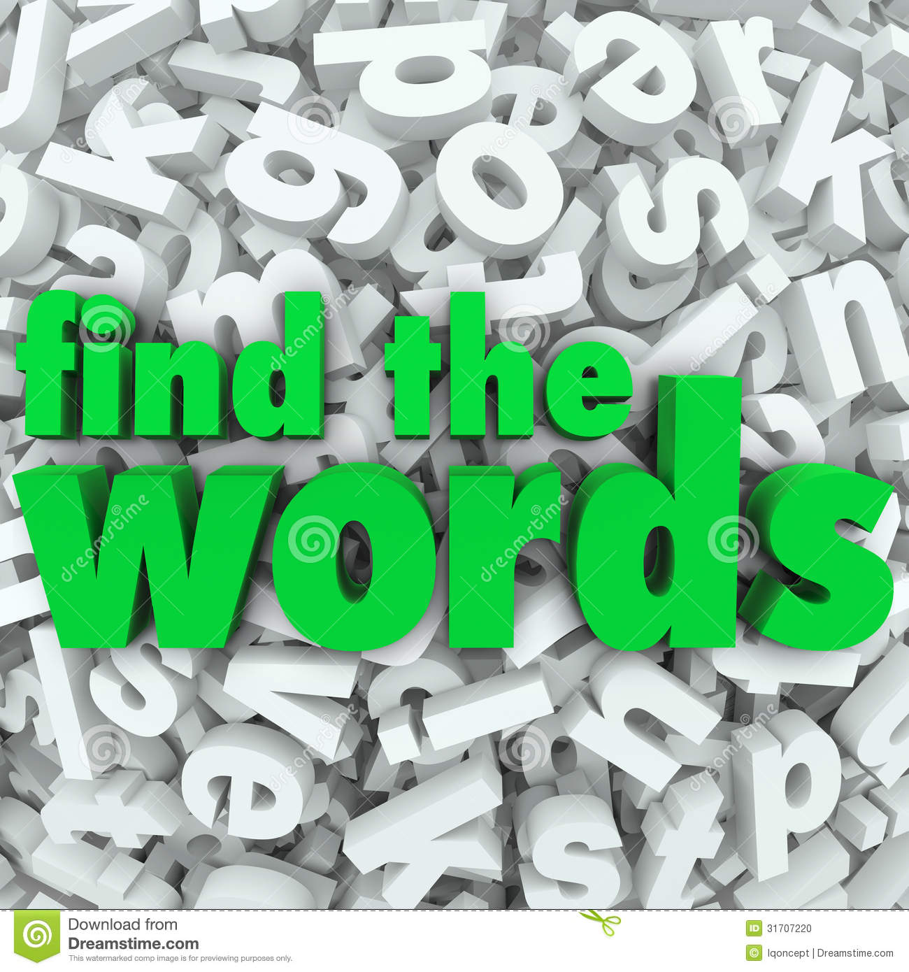 Find A Word With These Letters