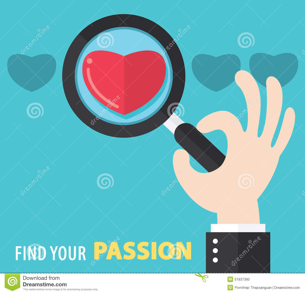 Find Your Passion Background Stock Vector