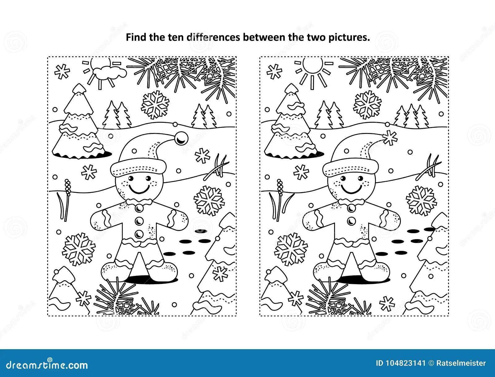 Finden Sie Unterschiedsichtpuzzlespiel Und
